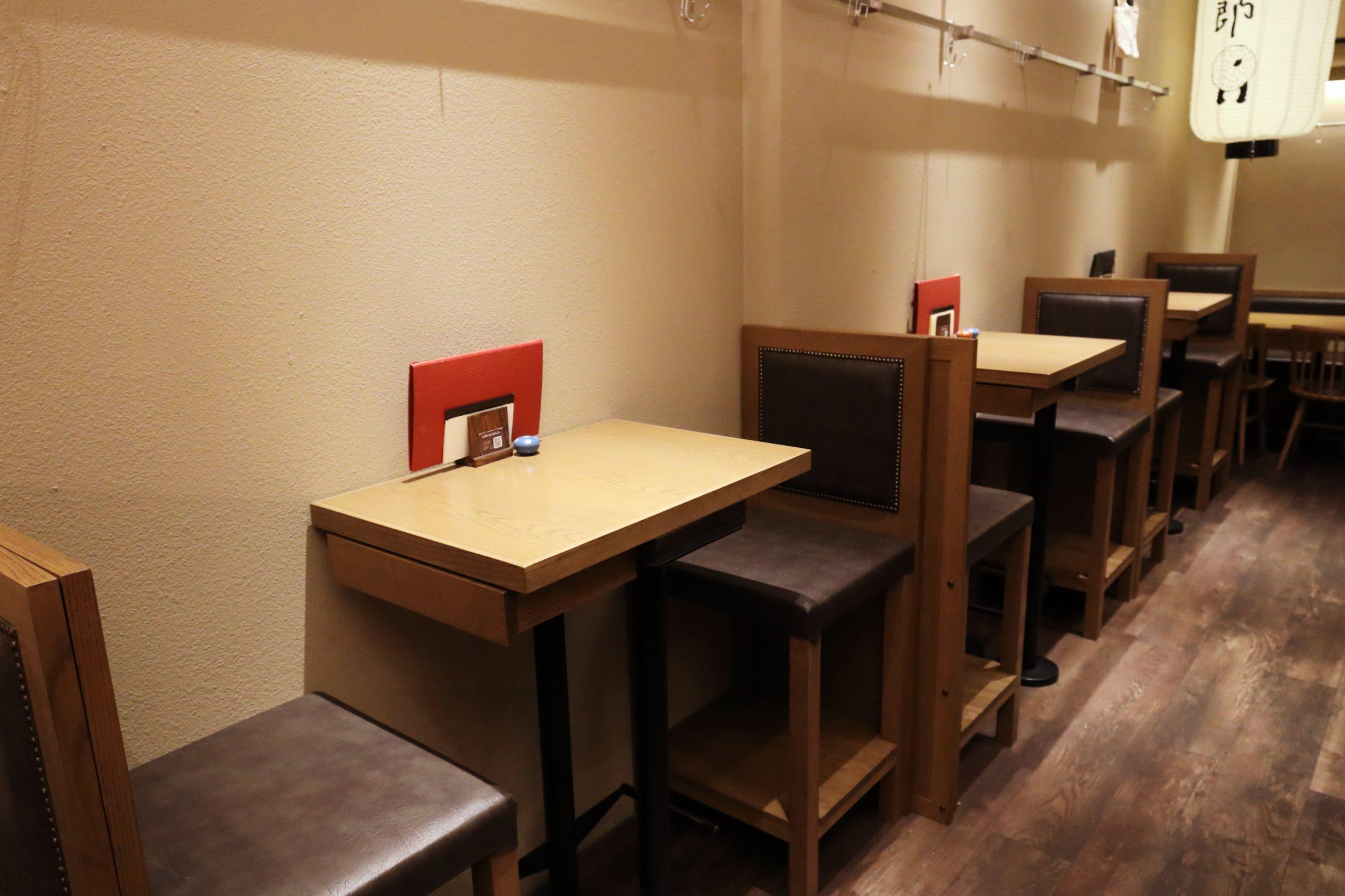 テーブル席(2名)